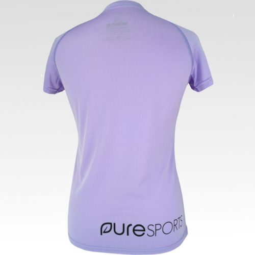 Dames sportshirt roze gerecycled polyster achter