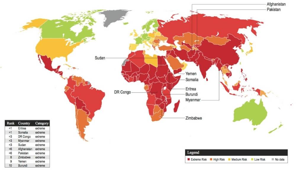 in welke landen komt kinderarbeid voor overzicht