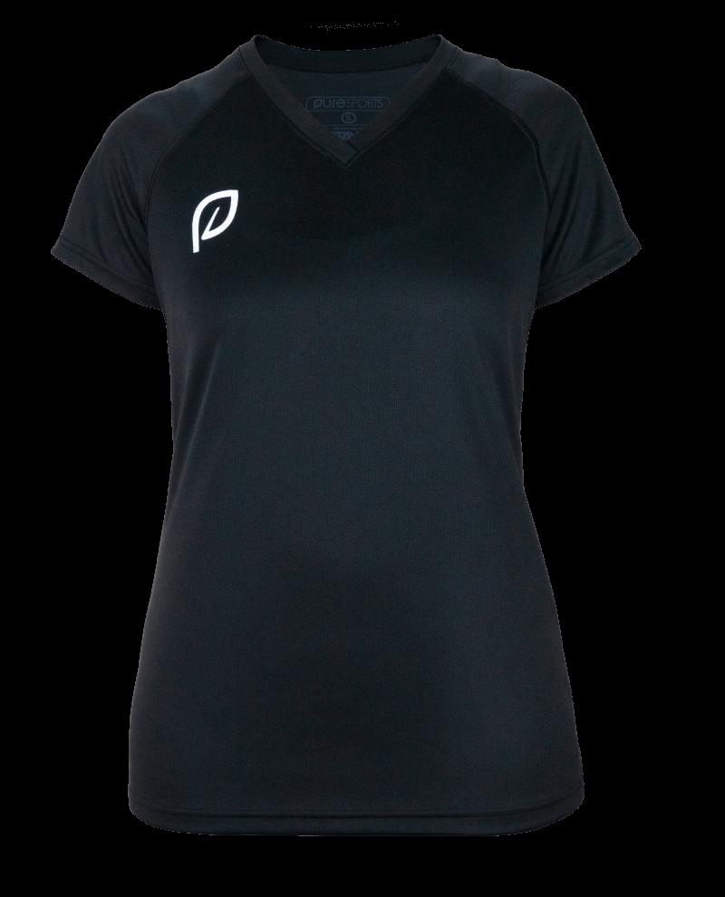 Vrouwen shirt voorkant zwart transparant