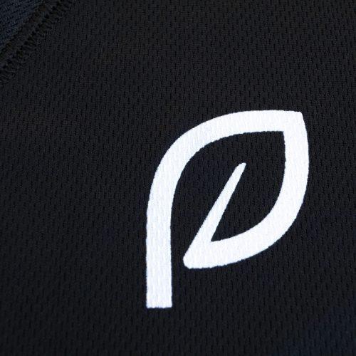 dames sportshirt zwart voorkant logo