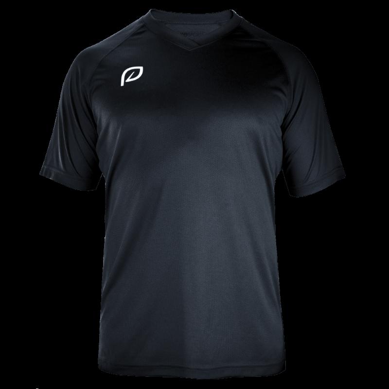 heren sportshirt zwart gerecycled polyester