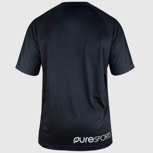 zwart sportshirt heren achterkant