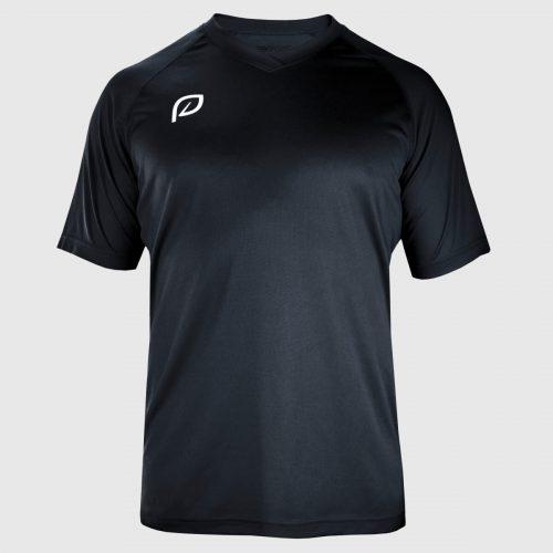 zwart sportshirt heren voorkant