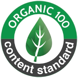 keurmerk Certified to Organic Exchange 100 Standard