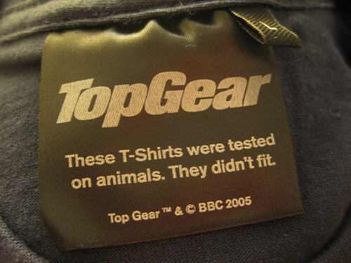 this tshirt was tested on animals it didnt fit